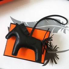 Hermes So Black Rodeo Horse Bag Charm