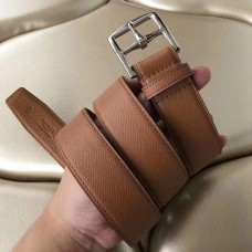 Hermes Etriviere 40 Belt In Brown Epsom Leather