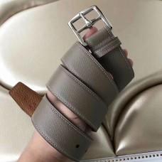 Hermes Etriviere 40 Belt In Etoupe Epsom Leather