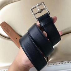 Hermes Etriviere 40 Belt In Black Epsom Leather