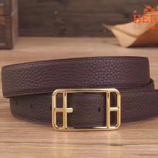 Hermes Chocolate Cape Cod 32 Reversible Belt