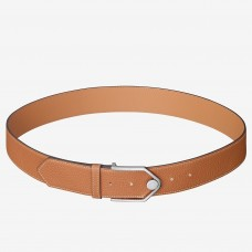Hermes Brown Licol 40 MM Reversible Leather Belt