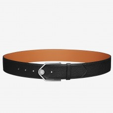 Hermes Black Licol 40 MM Reversible Leather Belt