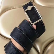 Hermes Oscar Buckle 40 MM Belt Black Reversible Leather