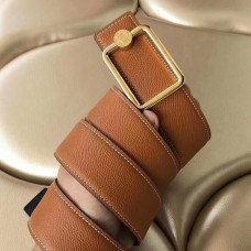 Hermes Oscar Buckle 40 MM Belt Brown Reversible Leather