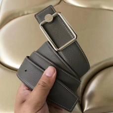 Hermes Oscar Buckle 40 MM Belt Etoupe Reversible Leather
