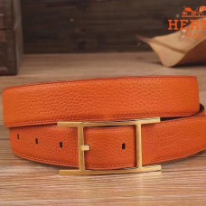 Hermes Quentin 32 MM Orange Reversible Belt