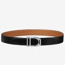 Hermes Etrier Buckle Belt & Brown Clemence 32 MM Strap