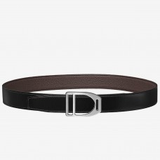 Hermes Etrier Buckle Belt & Chocolate Clemence 32 MM Strap