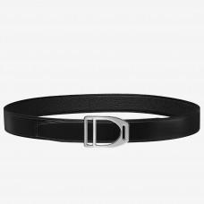Hermes Etrier Buckle Belt & Black Clemence 32 MM Strap