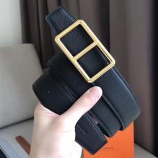 Hermes Officier Belt Buckle & Black 38MM Strap