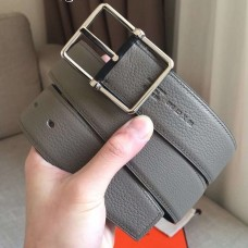 Hermes Grey Saddle 38MM Reversible Belt