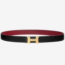 Hermes Mini Constance Belt Buckle & Ruby Epsom 24 MM Strap