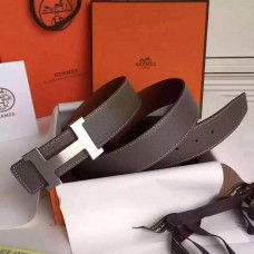 Hermes Grey Epsom Kits Belt Constance Buckle