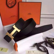 Hermes Black Epsom Kits Belt Constance Buckle