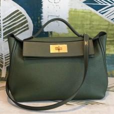 Hermes 24/24 29 Bag In Canopee Clemence Calfskin