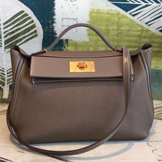 Hermes 24/24 29 Bag In Taupe Clemence Calfskin