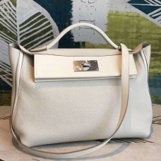 Hermes 24/24 29 Bag In White Clemence Calfskin