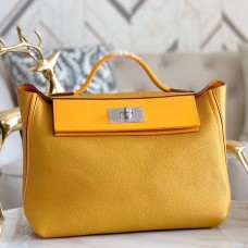 Hermes 24/24 29 Bag In Curry Clemence Calfskin