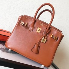 Hermes Gold Swift Birkin 25cm Handmade Bag