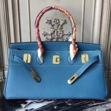 Hermes Blue JPG Birkin 42cm Shoulder Bag