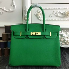 Hermes Birkin 30cm 35cm Bag In Bamboo Clemence Leather