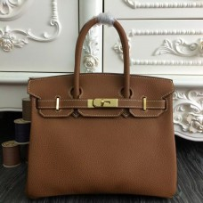 Hermes Birkin 30cm 35cm Bag In Brown Clemence Leather