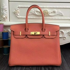 Hermes Birkin 30cm 35cm Bag In Crevette Clemence Leather