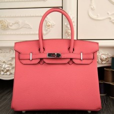 Hermes Birkin 30cm 35cm Bag In Rose Lipstick Clemence Leather