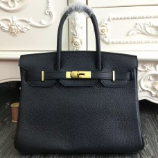 Hermes Birkin 30cm 35cm Bag In Black Clemence Leather