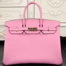 Hermes Birkin 30cm 35cm Bag In Pink Clemence Leather