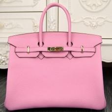 Hermes Birkin 30cm 35cm Bag In Pink Clemence Leather