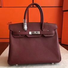 Hermes Bordeaux Epsom Birkin 30cm Handmade Bag