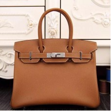 Hermes Birkin 30cm 35cm Bag In Brown Epsom Leather