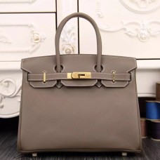 Hermes Birkin 30cm 35cm Bag In Etoupe Epsom Leather