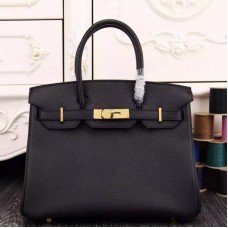 Hermes Birkin 30cm 35cm Bag In Black Epsom Leather