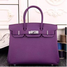Hermes Birkin 30cm 35cm Bag In Purple Epsom Leather