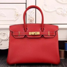 Hermes Birkin 30cm 35cm Bag In Red Epsom Leather