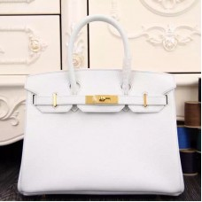 Hermes Birkin 30cm 35cm Bag In White Epsom Leather