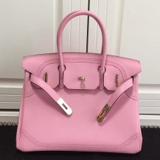 Hermes Birkin Ghillies 30cm In Pink Swift Leather