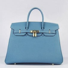 Hermes Birkin 30cm 35cm Bag In Blue Jean Togo Leather