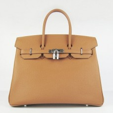Hermes Birkin 30cm 35cm Bag In Brown Togo Leather