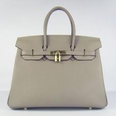 Hermes Birkin 30cm 35cm Bag In Grey Togo Leather