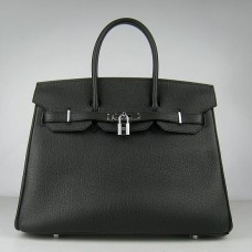 Hermes Birkin 30cm 35cm Bag In Black Togo Leather