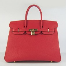 Hermes Birkin 30cm 35cm Bag In Red Togo Leather