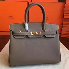 Hermes Etoupe Epsom Birkin 30cm Handmade Bag