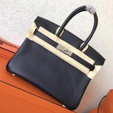 Hermes Black Epsom Birkin 30cm Handmade Bag
