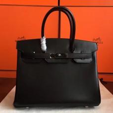 Hermes So Black Box Birkin 30cm Handmade Bag