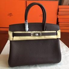 Hermes Cafe Clemence Birkin 30cm Handmade Bag