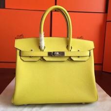 Hermes Soufre Epsom Birkin 30cm Handmade Bag